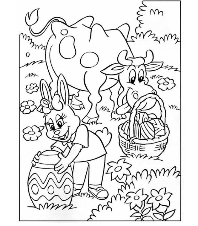 Afbeelding Kip Kleurplaat Pasen Kleurplaten Voor Pasen Van Paasmandjes Paaseieren