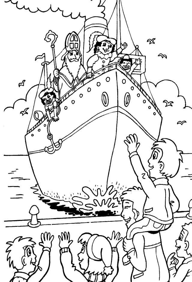 Sinterklaas En Zwarte Piet Kleurplaat Moeilijk Parksidetraceapartments